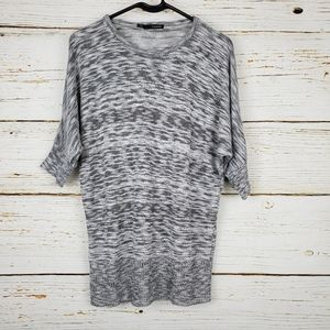 Maurices Grey & White Space Dyed Sweater